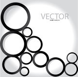 Black circles. For your text background vector Stock Photo