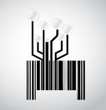 Black circuit electronic barcode illustration Royalty Free Stock Image