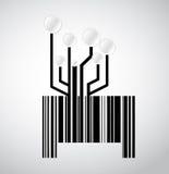 Black circuit electronic barcode illustration Royalty Free Stock Image