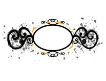 Black Circular Frame Flourish Stock Image