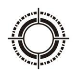 Black circular pattern Stock Photography