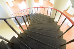 Black Circular staircase Royalty Free Stock Photography