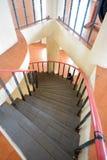 Black Circular staircase Stock Photo
