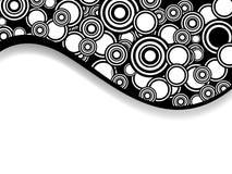 black cirklar Royaltyfria Bilder