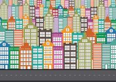 Black cities silhouette icon set vector illustration