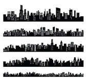 Black city Stock Image