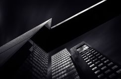 Black City Buildings Royalty Free Stock Images