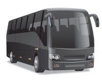 Black city bus Stock Images