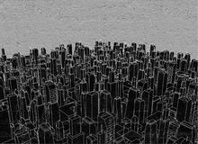 Black city. Creative desgi of black city Royalty Free Stock Photography