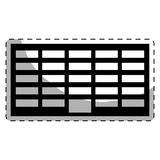 Black city office building line sticker. Illustration image Royalty Free Stock Images