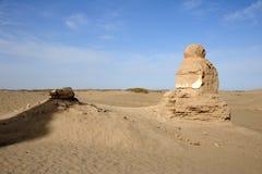 Black city ruins Stock Image