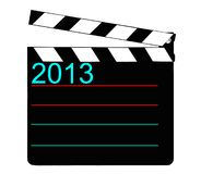 Black clap board. For Happy New Year 2013 Royalty Free Stock Image