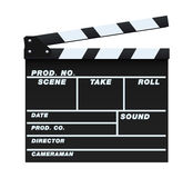 Black Clapperboard. Vector illustration of a blank and isolated movie clapperboard Royalty Free Stock Photography