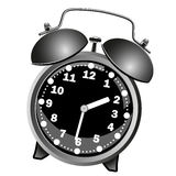 Black classic alarm clock Royalty Free Stock Photos