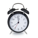 Black classic alarm clock Stock Photo