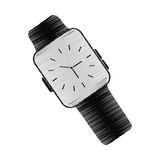 Black classic analog watch wearable technology. Vector illustration eps 10 Royalty Free Stock Images