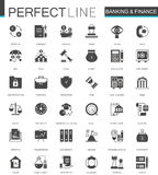 Black classic Banking and finance web icons set. Black classic Banking and finance web icons set Stock Photo