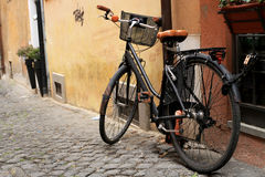 Black classic bicycle Stock Images