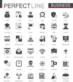 Black classic Business and finance web icons set. Black classic Business and finance web icons set isolated Royalty Free Stock Images