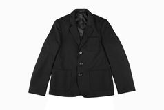Black classic children jacket Royalty Free Stock Photo