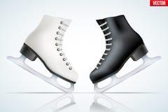 Black classic figure ice skates Royalty Free Stock Image