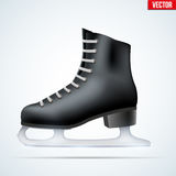 Black classic figure ice skates Stock Photography