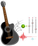 Black classic guitar stencil ready Royalty Free Stock Images