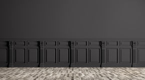 Black classic interior background 3d render Royalty Free Stock Photo