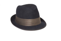 Black classic men's hat royalty free stock images