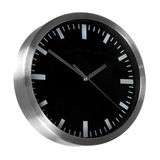 Black classic office clock Stock Images