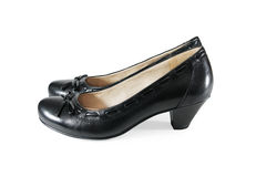 Black classic shoes Stock Images