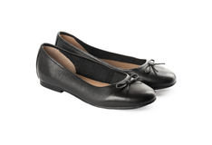 Black classic shoes on a white background Royalty Free Stock Photos