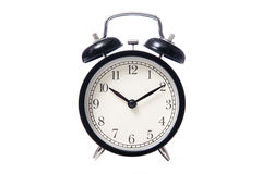 Black classic style alarm clock Royalty Free Stock Photography