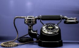 Black Classic Telephone Stock Photo