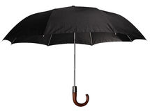 Black classic umbrella. Royalty Free Stock Photo