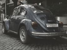 Black wolkswagen beetle Stock Photos