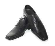 Black classical boots Stock Photos