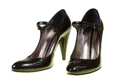 Black classical woman's shoes Royalty Free Stock Photo
