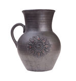 Black clay jug Stock Photography