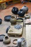 Black Clay Pottery's Workshop Stock Photos