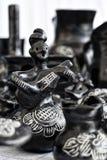 Black clay pottery Royalty Free Stock Image