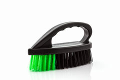 Black cleaning plastic brush. Royalty Free Stock Photos
