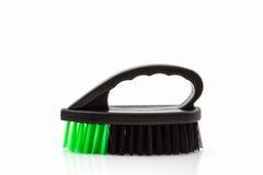 Black cleaning plastic brush. Stock Photo