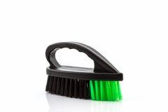 Black cleaning plastic brush. Stock Photos