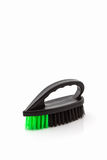 Black cleaning plastic brush. Royalty Free Stock Photography
