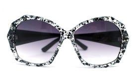 Black and clear splash paint splatter pattern sunglasses. Black and clear splatter pattern gradient lens sunglasses Royalty Free Stock Photos
