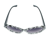 Black and clear splash paint splatter pattern sunglasses Stock Photo