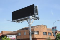 Black Clearchannel billboard royalty free stock images