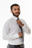 Black clerk in the office. Royalty Free Stock Photo