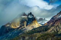 Black cliffs of Los Kuernos Stock Image